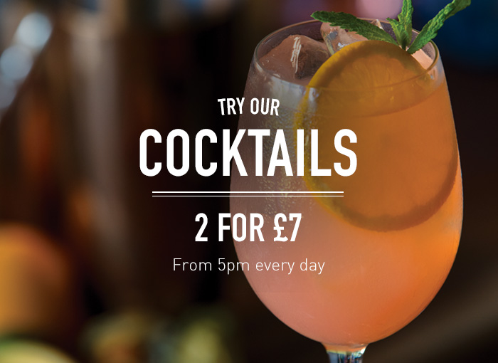 2 Cocktails for £7