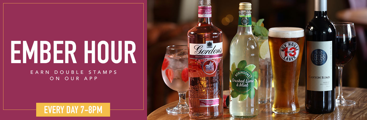 Earn double stamps on our app