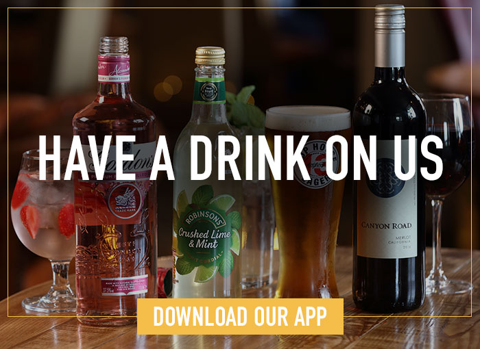 Have a free drink when you sign up to our app