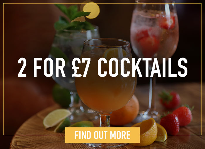 Cocktail menu at Ember Inns
