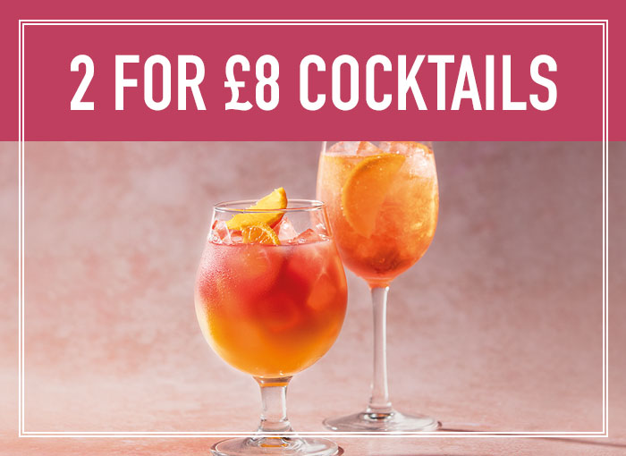 2 for £7.50 on cocktails