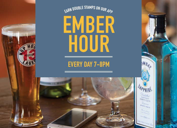 Ember Hour - double stamps between 7-8pm every day