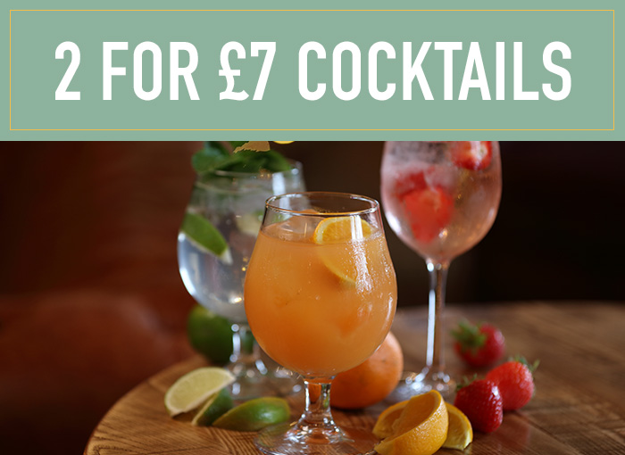 2 for £7 on cocktails