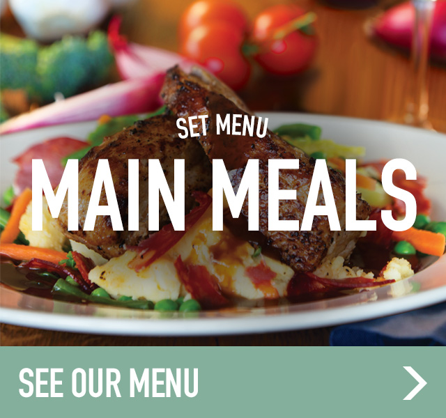 Set menu main meals at Ember Inns