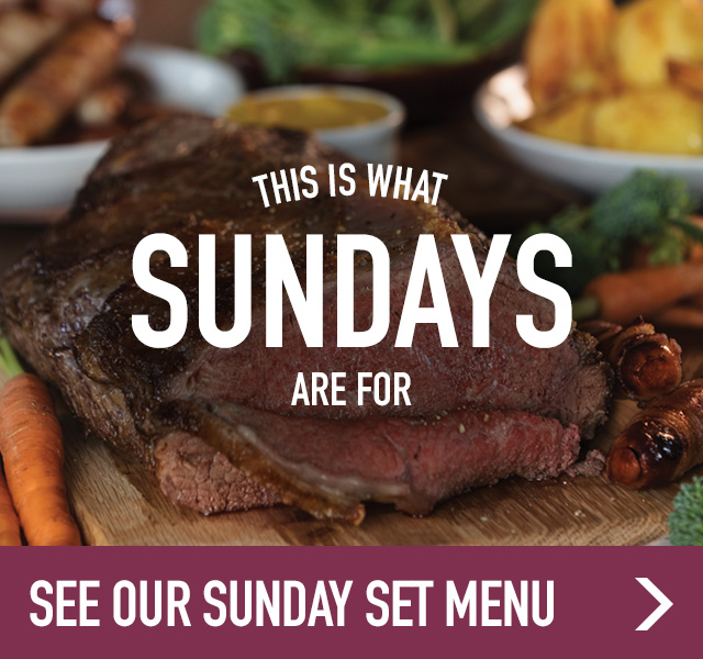Sunday menu at Ember Inns
